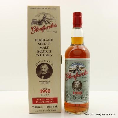 Glenfarclas 1990 Spirit Of Independence Edition #21 Thomas Carlyle