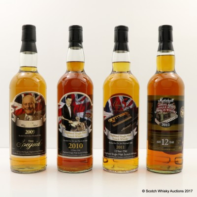 Assorted Single Malts For Jim Marshall 4 x 70cl