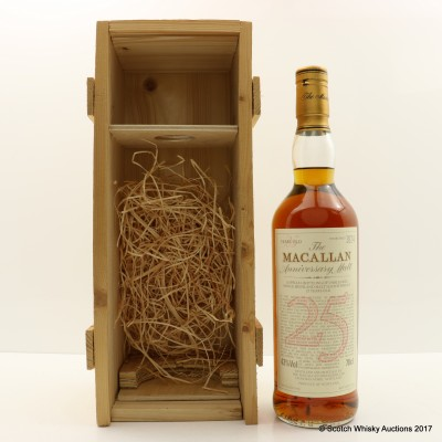 Macallan 1966 25 Year Old Anniversary Malt