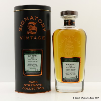 Glenrothes 1990 25 Year Old Signatory