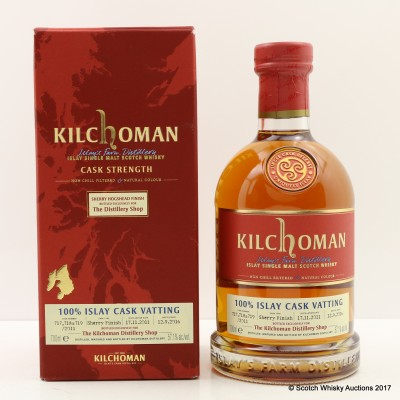 Kilchoman 100% Islay Cask Vatting for The Distillery Shop
