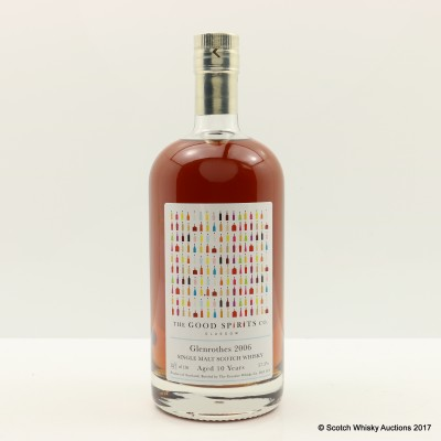 Glenrothes 2006 10 Year Old Good Spirits Co
