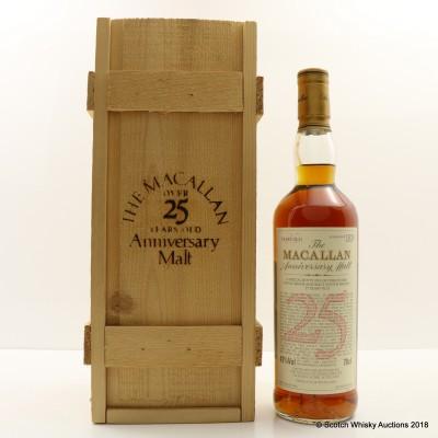 Macallan 1968 Over 25 Year Old Anniversary Malt