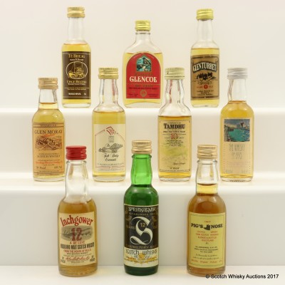 Assorted Minis 10 x 5cl Including Springbank 12 Year Old 5cl