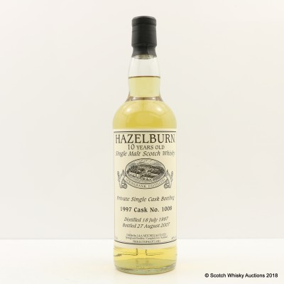 Hazelburn 1997 10 Year Old Private Cask #1008