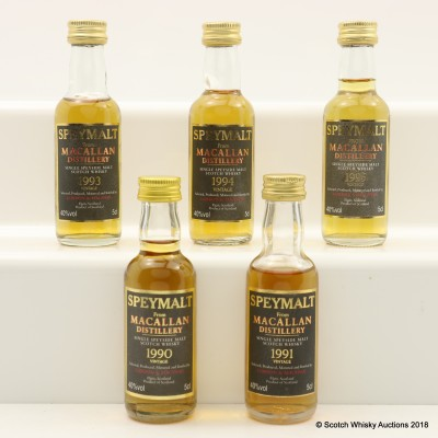 Assorted Macallan Speymalt Minis Gordon & MacPhail 5 x 5cl