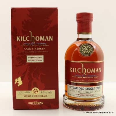 Kilchoman 2007 10 Year Old Single Cask #401 For The Whisky Exchange