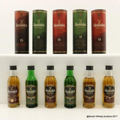 Assorted Glenfiddich Minis 6 x 5cl