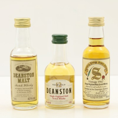 Assorted Deanston Minis 3 x 5cl Including 1967 23 Year Old Signatory