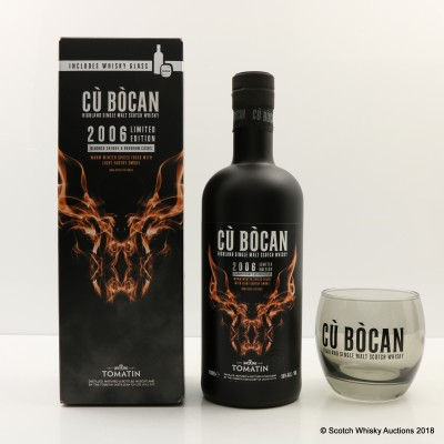 Tomatin Cu Bocan 2006 Limited Edition With Glass