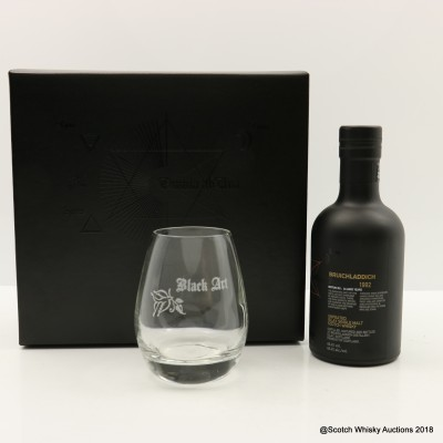 Bruichladdich Black Art 1992 24 Year Old Edition 05.1 Gift Set with Glass 20cl