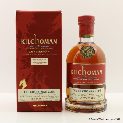 Kilchoman 2006 10 Year Old Kilchoman Club Exclusive 5th Edition