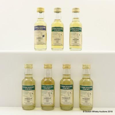Assorted Connoisseurs Choice Minis 7 x 5cl Including Craigellachie 1991