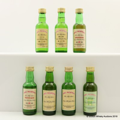 Assorted James McArthur's Miniatures 6 x 5cl Including Pittyvaich 12 Year Old