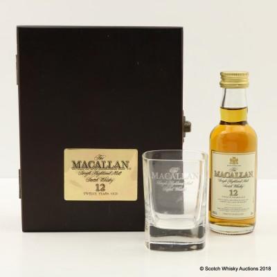Macallan 12 Year Old Mini 5cl & Glass