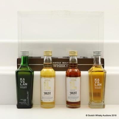 Kavalan Tasting Set 4 x 5cl Including Kavalan Solist Sherry Cask