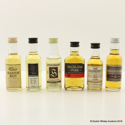 Assorted Minis 6 x 5cl Including Highland Park 18 Year Old
