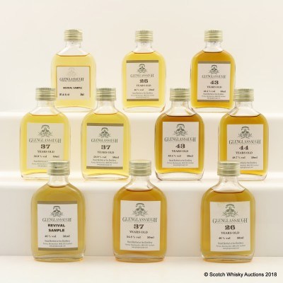 Assorted Glenglassaugh Minis 10 x 5cl Including 43 Year Old
