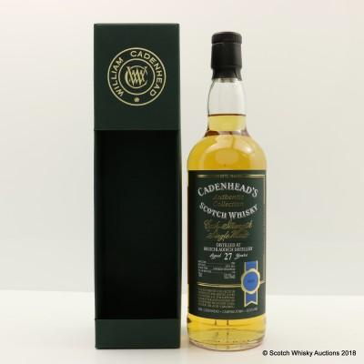 Bruichladdich 1988 27 Year Old Cadenhead's