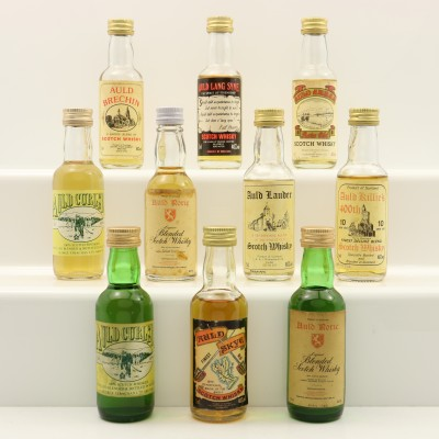Assorted Minis 10 x 5cl Including Auld Skye