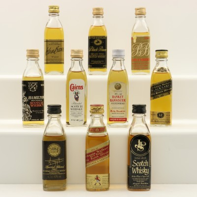 Assorted Minis 10 x 5cl Including Johnnie Walker Red Label