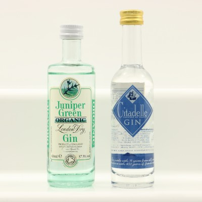Juniper Green Organic Gin Mini 6cl & Citadelle Gin Mini 5cl