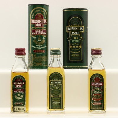 Assorted Bushmills Minis 3 x 5cl Including Bushmills 10 Year Old