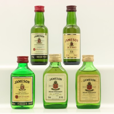 Assorted Jameson Minis 5 x 5cl Including Jameson 12 Year Old 1780 Reserve
