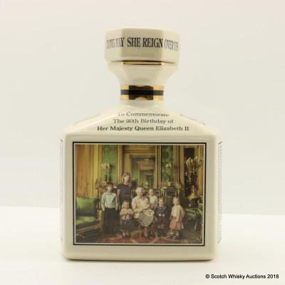 Ben Nevis 10 Year Old 90th Birthday of Queen Elizabeth II Pointers Ceramic Decanter