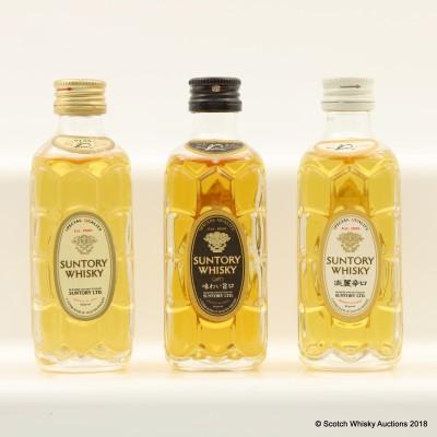 Assorted Suntory Minis 3 x 5cl