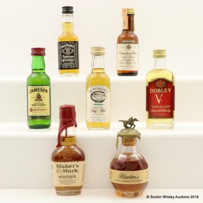 Assorted Minis 7 x 5cl Including Bowmore Legend