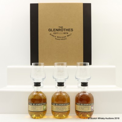 Glenrothes Mini Tasting Set with Glasses 3 x 5cl