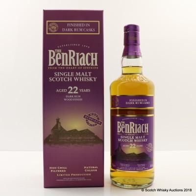 BenRiach 22 Year Old Dark Rum Finish