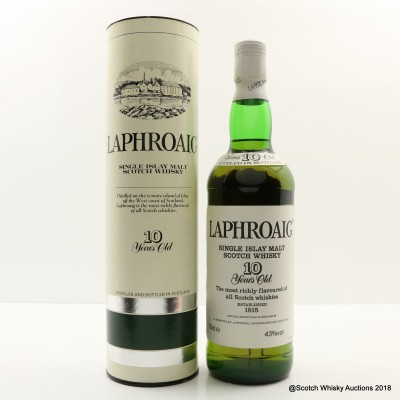 Laphroaig 10 Year Old Pre Royal Warrant 75cl