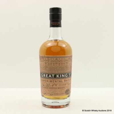 Compass Box Great King St Experimental Batch 00-V4 50cl