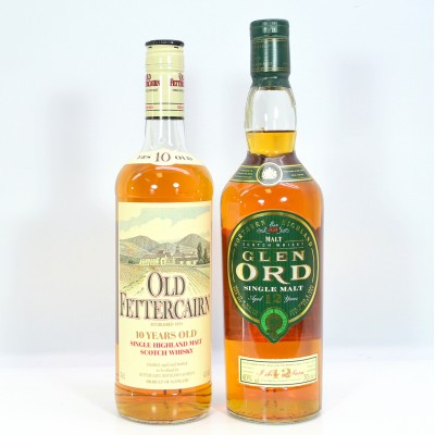 Old Fettercairn 10 Year Old and Glen Ord 12 Year Old
