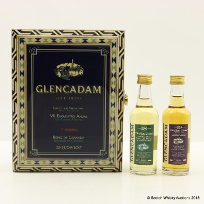 Glencadam 18 Year Old & 19 Year Old Minis For CECBL Annual Meeting 2017