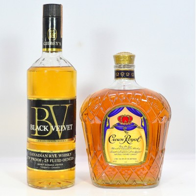 Black Velvet Canadian Rye 25 fl oz & Crown Royal 1L