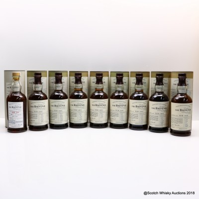 Balvenie Tun 1401 Batches #1 - 9 Full Set 6 x 70cl & 3 x 75cl