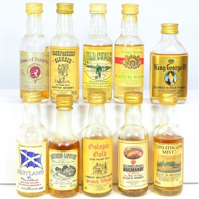 Assorted Minis x 10 Including King George IV