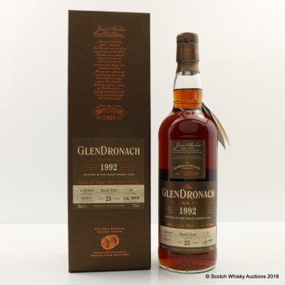 GlenDronach 1992 25 Year Old Single Cask #89