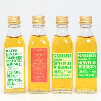 Assorted Minis x 4 5cl Including 2 x Galber Blended