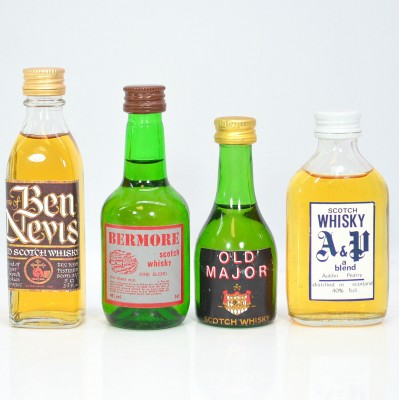 Assorted Minis x 4 5cl Including Old Major