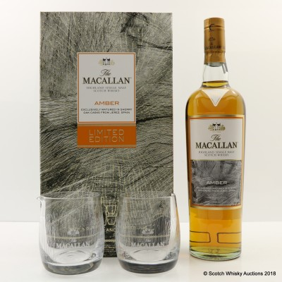 Macallan Amber & Glasses Limited Edition Gift Set