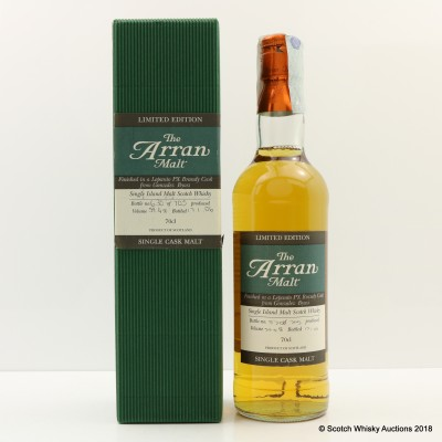 Arran Single Cask Lepanto PX Brandy Cask Finish