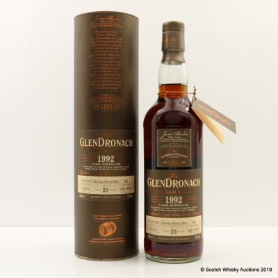 GlenDronach 1992 20 Year Old Single Cask #392