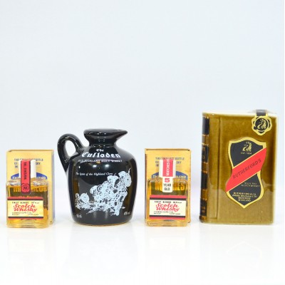 Assorted Minis x 4 - Including Two Decanters