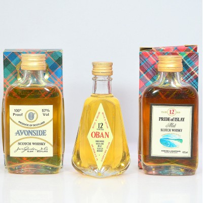 Assorted Minis x 3 Including 12 Year Old Oban