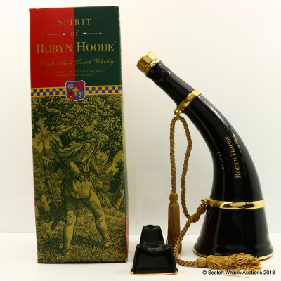Spirit of Robyn Hoode Black Porcelain Hunting Horn