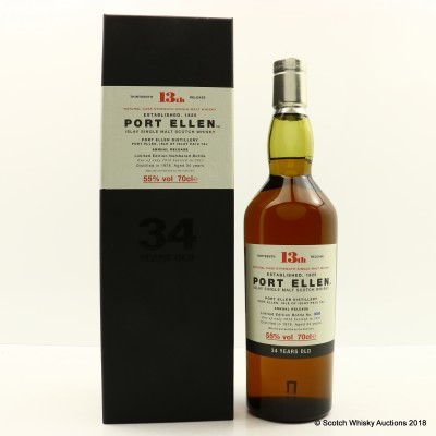 Port Ellen 13th Annual Release 1978 34 Year Old